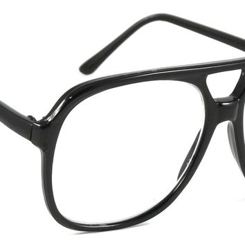 Men Retro Reading Glasses Cool Rex Aviator Style Large Frame Reader