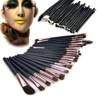 20 Pcs Classic Pro Makeup Set Powder Eyeshadow Eyeliner Lip Cosmetic Brushes W_C = 1651536324