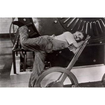 MODERN TIMES charlie CHAPLIN movie POSTER laughing FUNNY POSE 24X36