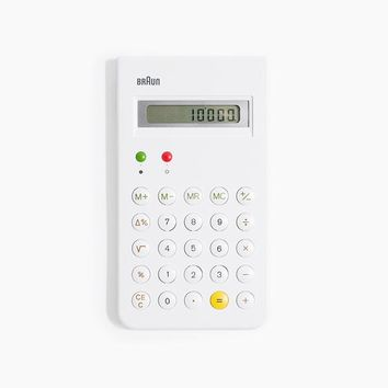 Braun Calculator in White