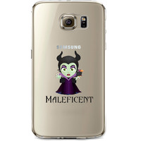 Disney's Villains (Maleficent) Jelly Clear Case for Samsung Galaxy S7 Edge