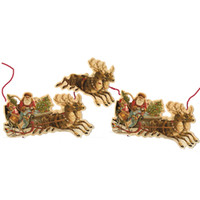 Christmas - View All - Vintage Santa & Sleigh Garland, 10 ft