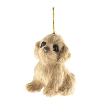 Golden Retriever Plush Dog Christmas Ornaments, Natural, 3-1/2-Inch