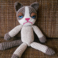 SALE, Grumpy Cat, crochet Grumpy cat, Grumpy cat doll, 05.April- 12.April