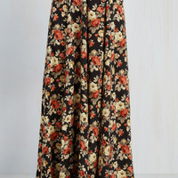 Boho Long Maxi Groove on Up Skirt by ModCloth