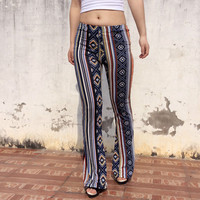 European American Tribal Flare Pants