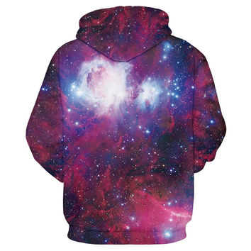 Cap Hoodies Men/Women 3d Sweatshirts  Jacket Print Green Leaves Space Galaxy Hooded Hoodies Galaxy H