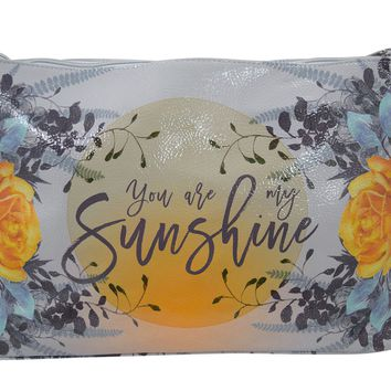 You Are My Sunshine Oil Cloth Large Make-up or Accessory Travel Bag