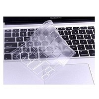 "Mosiso - Ultra Thin Clear TPU Keyboard Cover Skin for MacBook Air 13"" and MacBook Pro 13"" 15"" 17"" (with or w/out Retina Display) iMac -Clear"