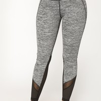 Full Mile Active Leggings - Grey/Black
