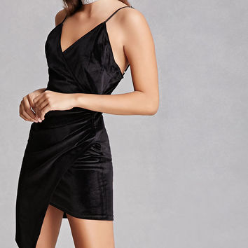 Ruched Velvet Dress