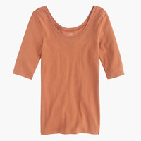 J.Crew Womens Perfect-Fit Scoopneck T-Shirt