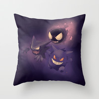 GHOSTS! - Pokémon Throw Pillow by KanaHyde | Society6