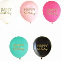 Happy Birthday Balloons (Set of 3)