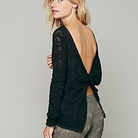 Free People Womens Twisted Back Sweater