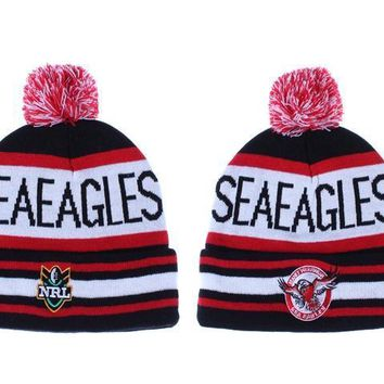 PEAPON Manly Warringah Sea Eagles Beanies NRL Football Hat