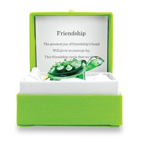 Friendship Colorburst Messenger Handcrafted Glass Turtle Figurine