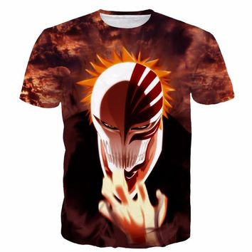 Bleach Japanese 3D Short Sleeve Anime T-Shirt