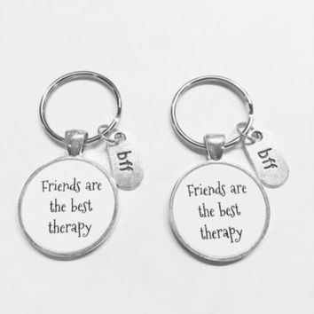 Bff Friends Are The Best Therapy Best Friend Gift Keychain Set