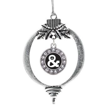 Simply Peace and Love Circle Charm Holiday Ornament