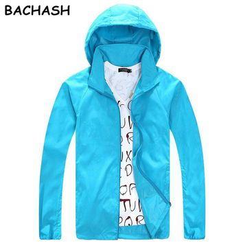 BACHASH New Spring Summer Brand Jackets ultra-thin Zipper men's Windproof Solid Casual Loose Solid Coats For Small Rain With