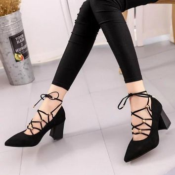 2016 fashion Fringe women Wedding dress Shoes Woman autumn Square High Heels Sandals Sexy Cross-Tied Pumps for girls 93