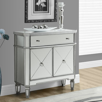 """Brushed Silver / Mirrored 32""""L Accent Table"""