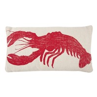 Lobster Sketch Accent Pillow