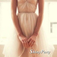 Custom Made A Line Sweetheart Neck Short Prom Dresses, Ivory Homecoming/Graduation Dresses