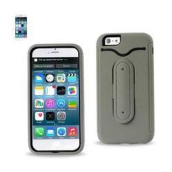 REIKO IPHONE 6 HYBRID HEAVY DUTY CASE WITH BENDING KICKSTAND IN GRAY