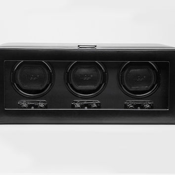Wolf Designs 270202 Heritage Triple 2.1 Watch Winder Black