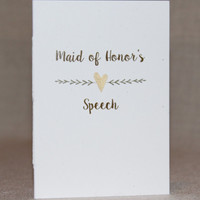 Wedding Speech Books - Maid of Honor's  Speech Book - Best Man's Speech Book