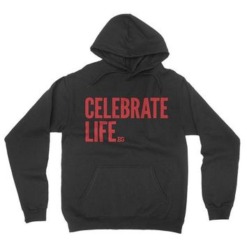 Celebrate Life Pullover Hoodie For Men