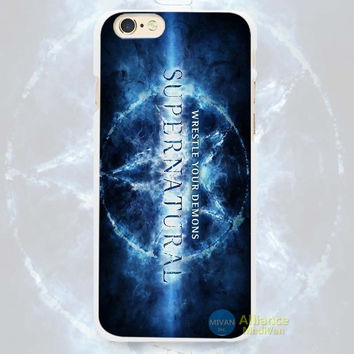 "Supernatural ""Wrestle Your Demons"" Phone Case For iPhone 7 7Plus 6 6s Plus 5 5s SE"