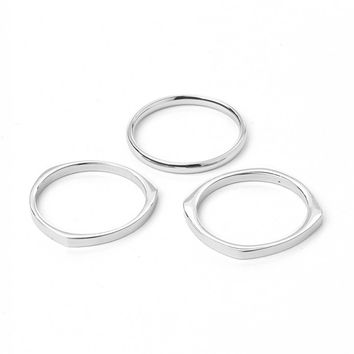 Vitaly 3 Shapes x Stainless Steel 3 Rings - Jewellery - Accessories | Shop for Men's clothing | The Idle Man