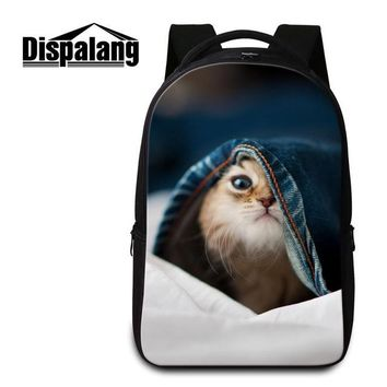 Cool Backpack school Dispalang cute cat pattern Cool Laptop bag travel Backpack for men Large Book bag Computer package multi-functional School bag AT_52_3