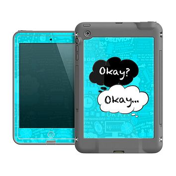 The Okay Speech Bubbles Over Collage Skin for the Apple iPad Mini frē LifeProof Case