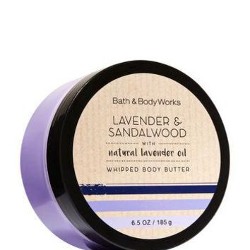 Bath & Body Works LAVENDER & SANDALWOOD Whipped Body Butter