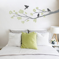 Three Birds On A Branch Wall Decal