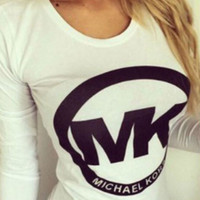 MK Printed Long-sleeved T-shirt