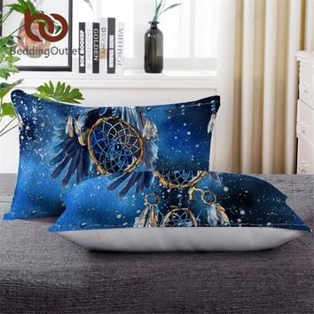 BeddingOutlet Dreamcatcher Sleeping Down Alternative Pillow Galaxy Bohemian Throw Body Pillow 50x75cm Bald Eagle Bedding 1 pc