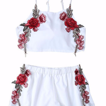 Becca Rose Embroidered Tanktop and Short Matching Set