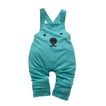 Dinosaur Cotton Pullover Jumpsuit For Kids