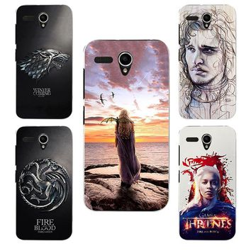 for Game of Thrones Daenerys Drogon Jon Snow tyrion lannister soft silicone Phone cover Case Fundas Case for Lenovo A606 A 606