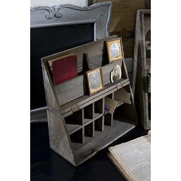 Vintage Recycled Wood Folding Desk Caddy (FINAL SALE)