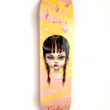 Toughie Skate Deck - Limited Edition signed numbered pop surrealism lowbrow skateboard Print by Mab Graves