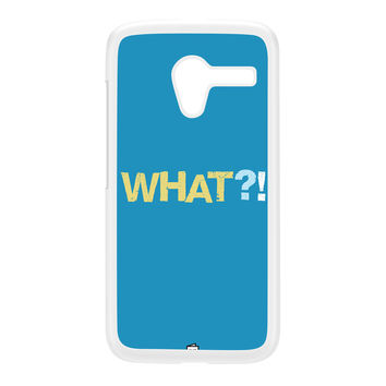 WHAT White Hard Plastic Case for Moto X by Blunt Cards