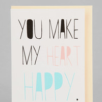 Heart Happy Card - Urban Outfitters
