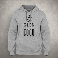 You go Glen Coco - Gray/White Unisex Hoodie - HOODIE-060