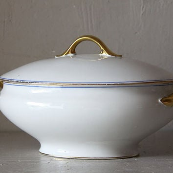 Antique French Limoges Serving Dish